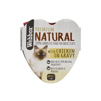 Webbox Natural Cat Food Heart Chicken In Gravy 85g