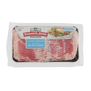 Farmer John Lo Salt Smoked Bacon 16 oz