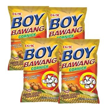 Boy Bawang Corn Assorted 4x100g