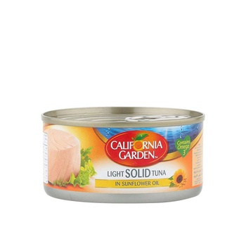 California Garden Light Tuna In Sunflower Oil 185g