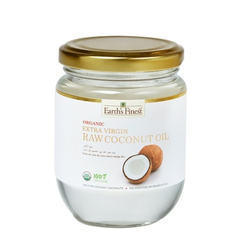 Earth`s Finest Organic Extra Virgin Raw Coconut Oil 200ml