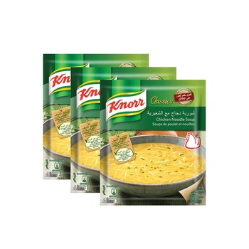 Knorr Soup Chicken Noodle 3X60g