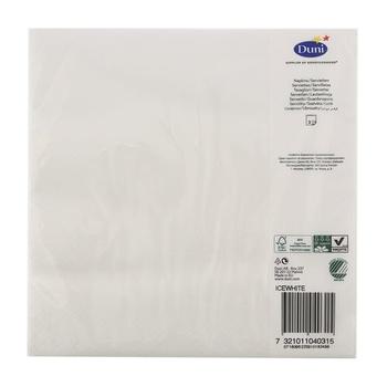 Duni Napkins Ice White 40cm #24314090