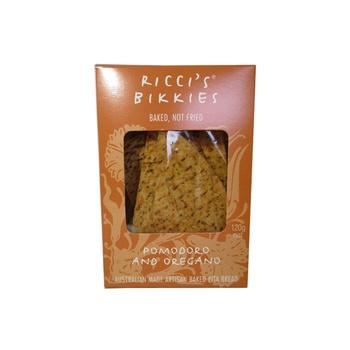 Riccis Bikkies Artisan Baked Pita Bread  Pomodoro & Oregano 120g