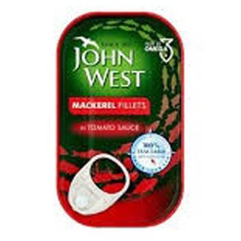 John West Mackerel Fillets In Tomto Sauce125g