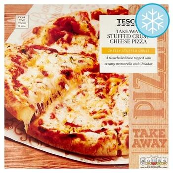 Tesco Stuffed Crust Cheese Pizza 431g