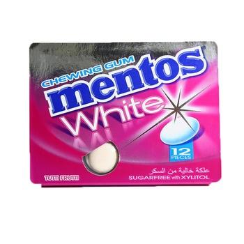 Mentos White Gum Blister Tutti Frutti 17g