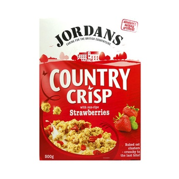 Jordans Cereal County Crisp Strawberries 500g