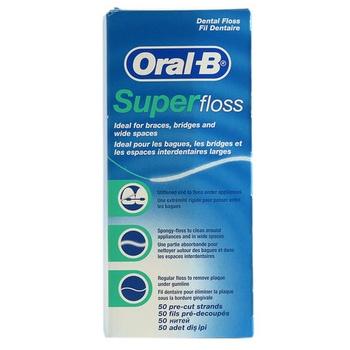Oral-B Super Floss Dental Floss 50 Pre Cut Strands
