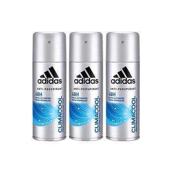 Adidas climacool 48h antiperspirant body spray for men 150 ml pack of 3