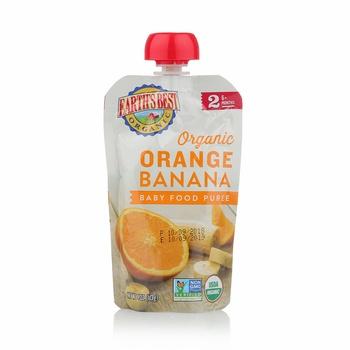 Earth's Best Organic Orange Banana Baby Food Puree 113g