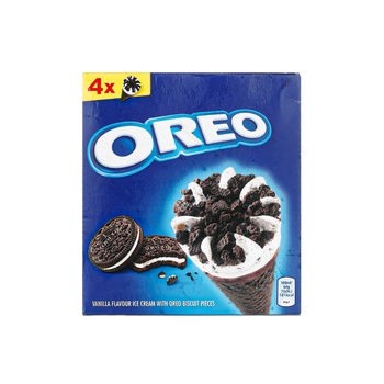 Oreo Ice Cream Cones 4 Pack 400ml