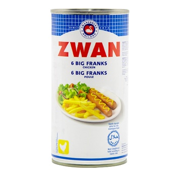 Zwan 6 Big Franks (Chicken) 560g