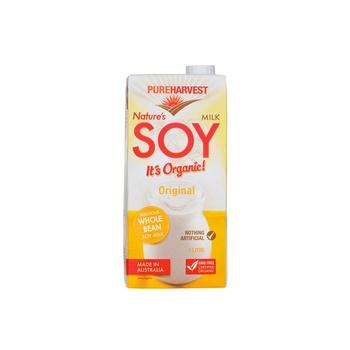 Pure Harvest Natures Organic Soy Milk Orignal 1ltr
