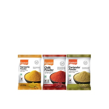 Eastern Chilly Turmeric Coriander Powders Offer Pack