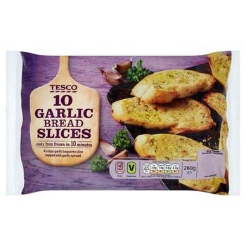 Tesco 10 Garlic Bread Slices 260g