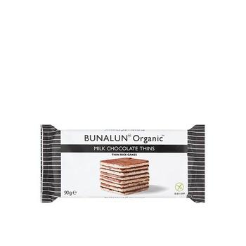 Bunalun Organic Milk Choco Thin Square Rice Cake 90g