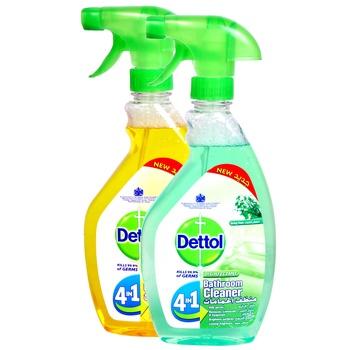 Dettol Kitchen Cleaner 500 ml + Bathroom Cleaner 500 ml