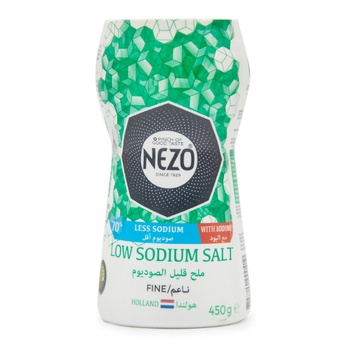 Nezo Iodized Low Sodium Salt 450G