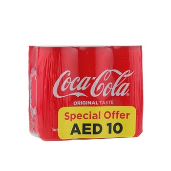 Cocacola 6 x 245ml Can @ 10 aed