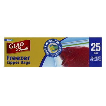 Glad Freezer Bags 27.4 X 26.5cm 25pcs