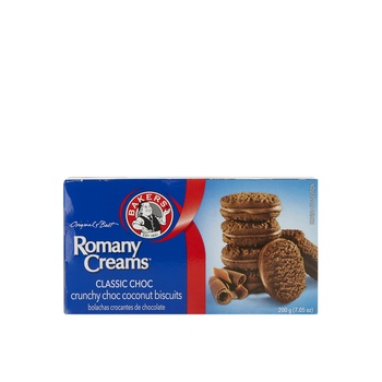 Bakers Romany Crunchy Choc Chocolate Biscuits 200g