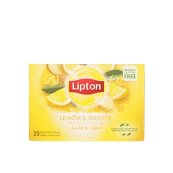 Lipton Lemon Ginger Tea Bag 20's