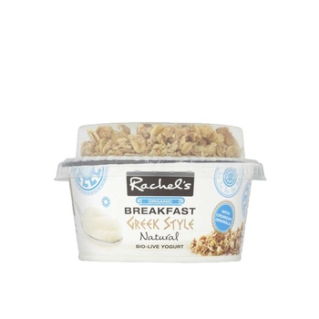 Rachels Organic Breakfast Greek Style Natural Bio-Live Yoghurt 135g