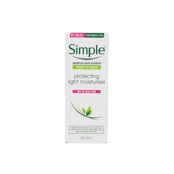 Simple KIND TO SKIN Protecting Light Moisturizer SPF15 Cream 125ml