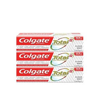 Colgate Total 12 Advanced Whitening Toothpaste 3 x 75ml