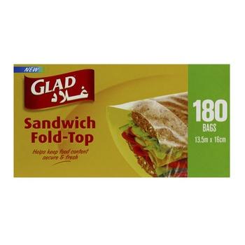 Glad Sandwich Fold Top 1 80pcs