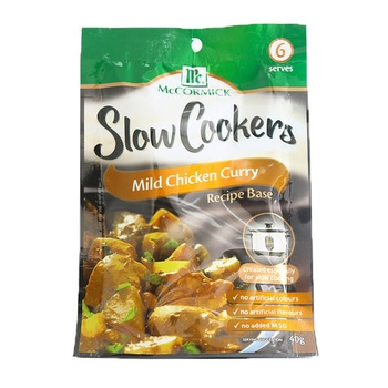 Mccormick Slow Cookers Mild Chicken Curry 40g