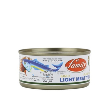 Family light meat tuna flake eoe (easy open end) 185gm