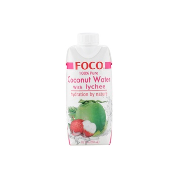 Foco UHT Coconut Water With Lychee 330ml