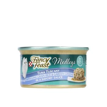 Purina Fancy Feast Medleys Tuna Tuscany Wet Food Multicolour 85g