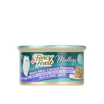Fancy Feast Medleys White Meat Chicken Primavera Cat Food 85g