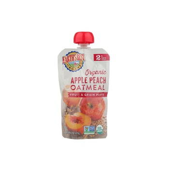 Earth's Best Organic Apple Peach Oatmeal Puree 120g