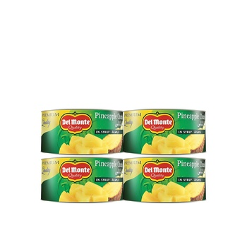 Del Monte Pine Chunks In Syrup 234g Pack Of 4