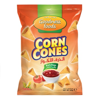 Goodness Foods Corn Cones ketchup 90g