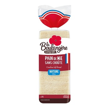 Plain Crustless Sandwich Bread 500g