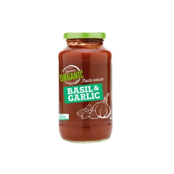 Jensens Organic Basil & Garlic Pasta Sauce 400g