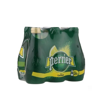 Perrier Natural Sparkling Mineral Water Lime Glass Bottle 6X200 ml