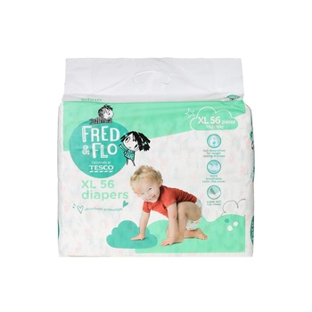 Tesco Fred & Flo Tape Diapers XL 56 Pieces