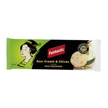 Fantastic Rice Cracker Sour Cream & Chives 100g