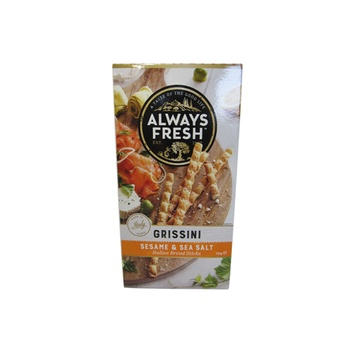 Always Fresh Grissini Italian Bread Sticks  Sesame & Sea Salt 125g