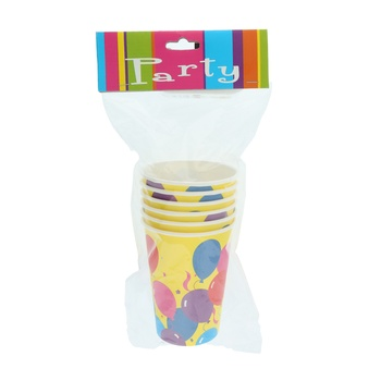 Festive Paper Cup 9Oz - 6 pcs pack