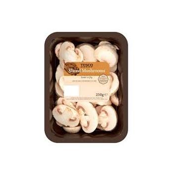 Tesco Mushroom Sliced 250g