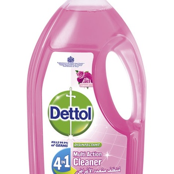 Dettol Disinfectant Multi Action Cleaner Rose 4 In 1 1.8ltr