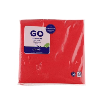 Duni Red 2ply 33cm Napkins 125 counts