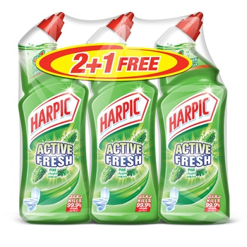 Harpic Active Fresh Pine Toilet Cleaner 750ml Pack Of 3